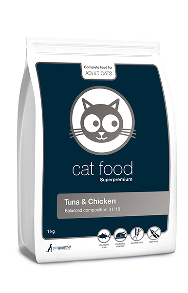 Superpremium cat food 1 kg, Tuna&Chicken 31/18 (1 kg)