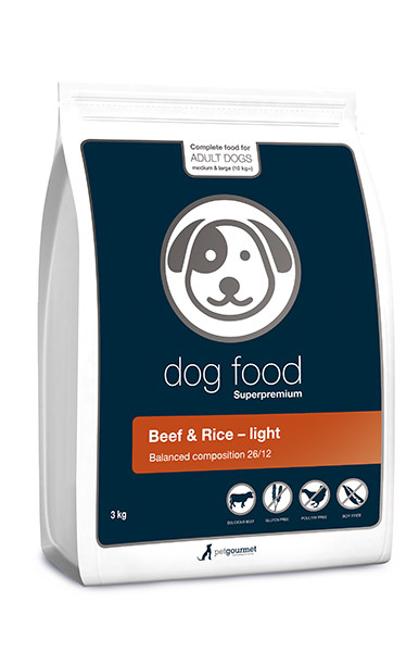 Superpremium dog food light - medium&large 3 kg