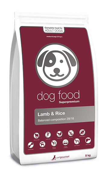 Superpremium dog food lamb - medium&large 8 kg